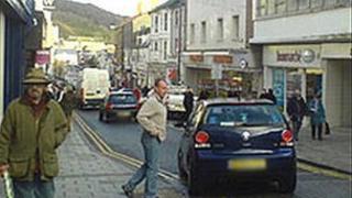 Great Darkgate Street in Aberystwyth town centre