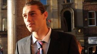Andy Carroll at Newcastle Crown Court