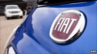 Close-up of Fiat 500 car
