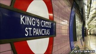 Piccadilly Line platform at King's Cross