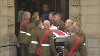 Funeral of Sgt Peter Rayner