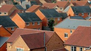 A housing estate in Derbyshire