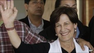 Susana Villaran after voting on 3 October