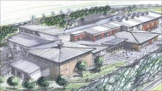 Artist's impression of the new school