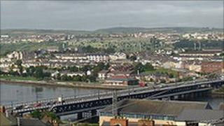 View of Derry across river