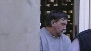 Colin Riddall outside court at an earlier hearing