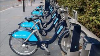 A docking station for London's bike hire scheme