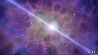 Artist's concept of a pulsar (SPL)