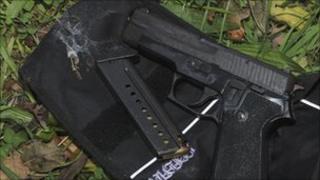 Gun and ammunition found in Bury