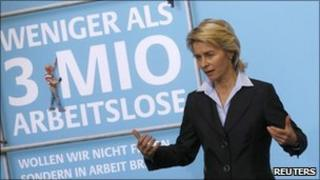 Germany's Labour Minister Ursula von der Leyen