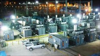 Temporary power site