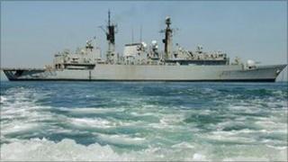 HMS Cornwall in North Arabian Gulf