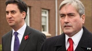 Labour leader Ed Miliband tours the South of Glasgow streets with Scottish Labour leader Iain Gray