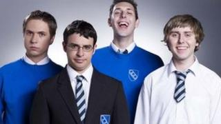 The stars of The Inbetweeners