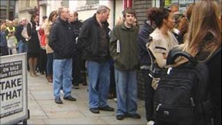 Take That ticket queue in Cardiff
