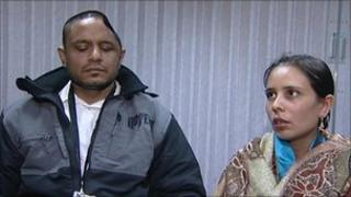 Raghvir Singh who was attacked at Dudley Port railway station and his wife Baljit Kaur