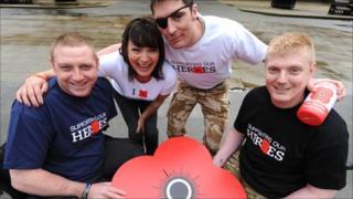 Lorraine Kelly and Afghan war veterans
