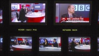 TV news gallery screen