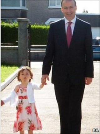 Micheal Martin with his daughter Leana, pictured in 2008