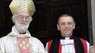 The Archbishop of Canterbury with Bishop Alistair Magowan - archive image