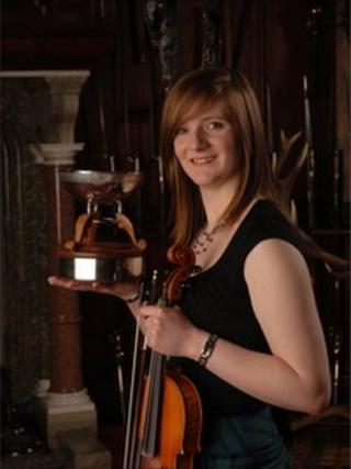 Nicola Auchnie won the Glenfiddich Fiddle Championship