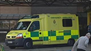 Ambulance at A&E entrance