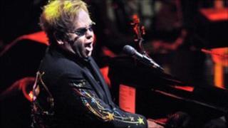 Sir Elton John at the BBC Electric Proms