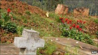 Memorial at Nyange church