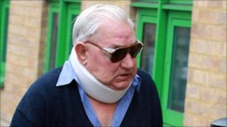 Cyril Hewitt arrives at court