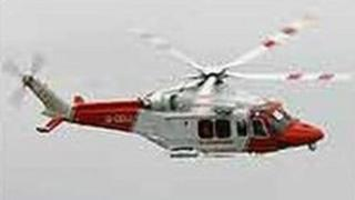 A coastguard helicopter