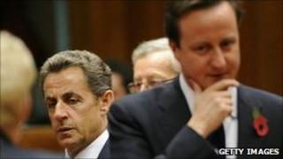 Nicolas Sarkozy and David Cameron