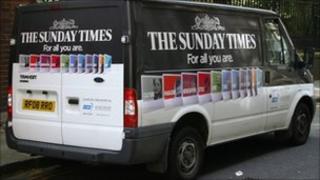 Sunday Times newspaper van