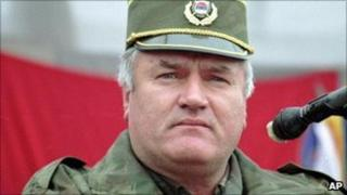 Gen Ratko Mladic pictured in 1995