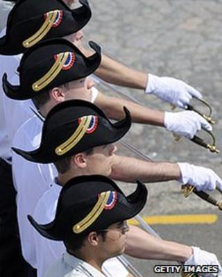 French soldiers on parade