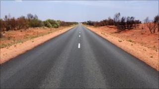Outback road in Australia