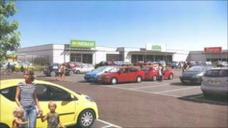 An artist's impression of the new ASDA store at Crescent Link