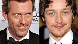 Hugh Laurie (Getty) James McAvoy (PA)