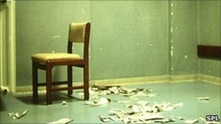 Room in a psychiatric hospital