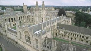 View of Oxford, All Souls College, University of Oxford