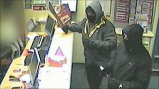 CCTV images of the Swalwell robbery