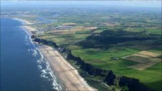 Benone and Downhill Strand pictured by Gordon Dunn in his paramotor