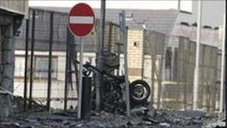 Newtownhamilton bomb scene