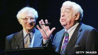 Jerry Bock (right) with songwriting partner Sheldon Harnick