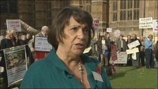 Sonia McColl at protest