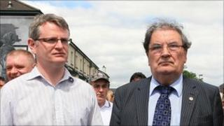 Pol Callaghan with the former SDLP leader John Hume