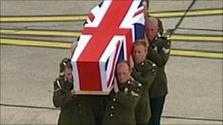 Repatriation of soldier killed in Afghanistan