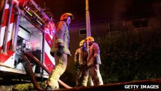 Fire crew attends incident in the Easterhouse area of Glasgow