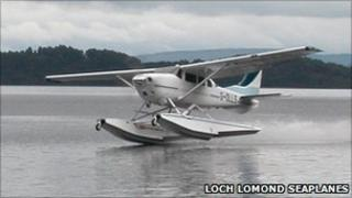 Seaplane on Loch Lomond