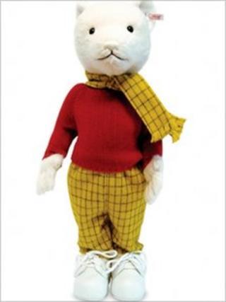A Steiff Rupert Bear