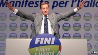 Italian parliament speaker Gianfranco Fini (7 Nov 2010)